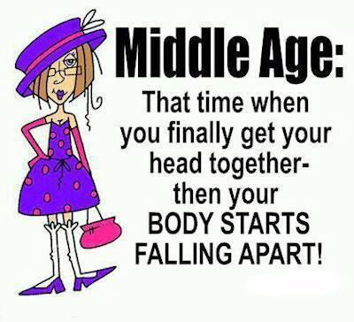 middle age body falls apart X