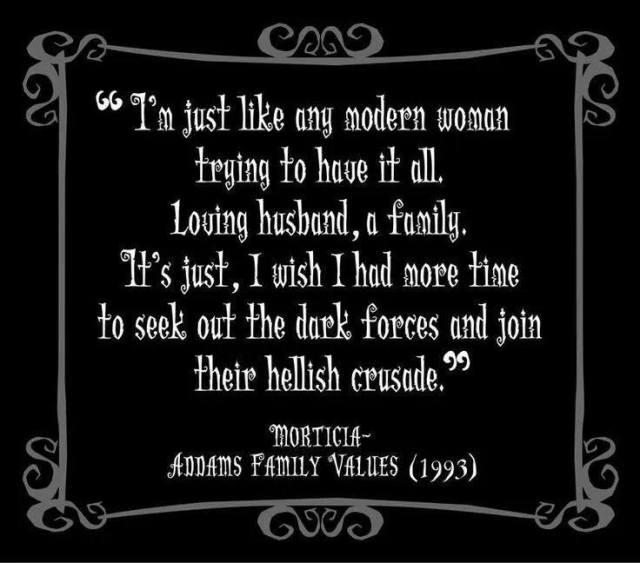 Morticia modern woman X