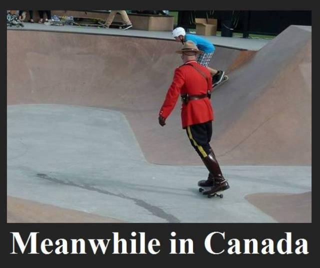 mountie skateboarding X