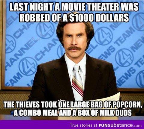 movie theatre robbed X