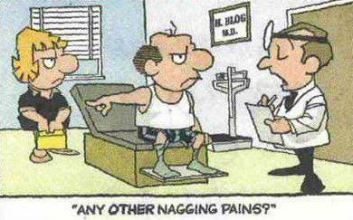 nagging pain X