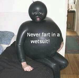 never fart wetsuit X