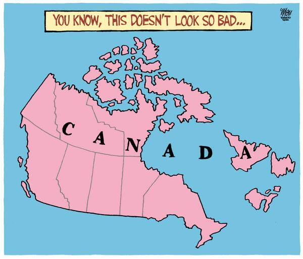 Quebec without Canada X