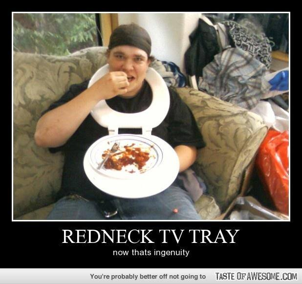redneck TV tray X