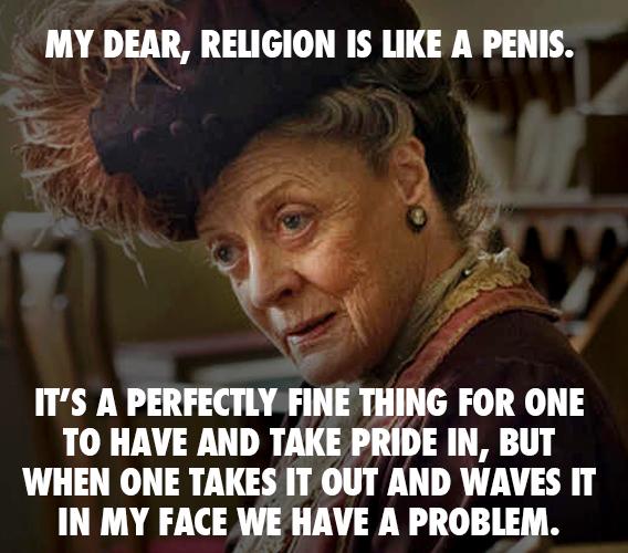 religion like penis X