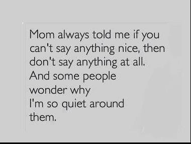 say nice quiet X