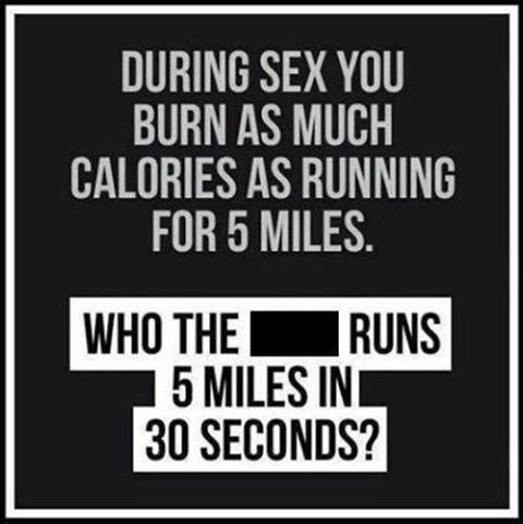 sex running 5 miles X