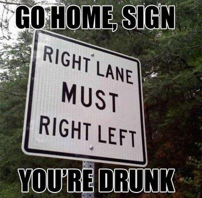 sign drunk X