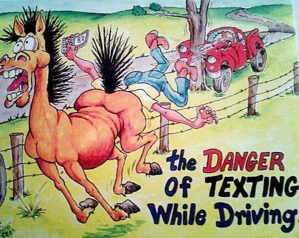 texting danger X