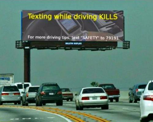 texting driving X