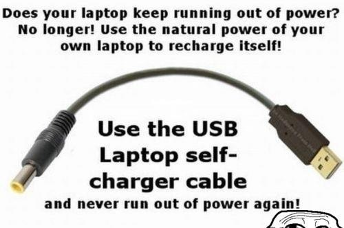 USB laptop self-charge X