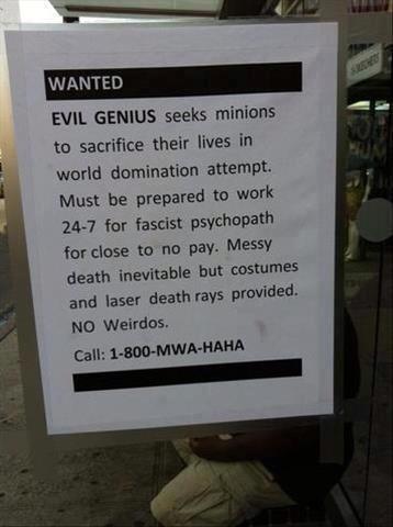 wanted evil genius X
