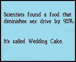 wedding cake diminish sex X