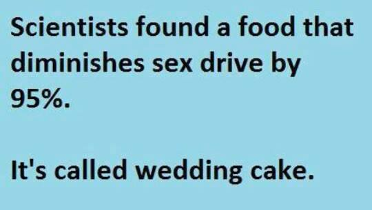 wedding cake kills sex drive