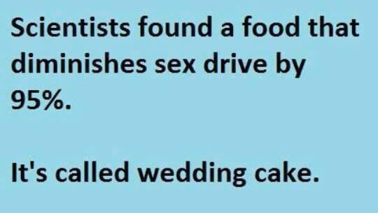 wedding cake kills sex drive