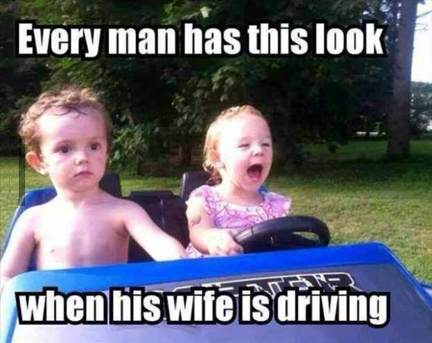 wife driving X