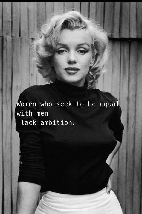 women equality lack ambition X