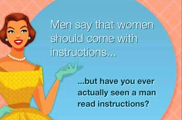 women isntrucion men read
