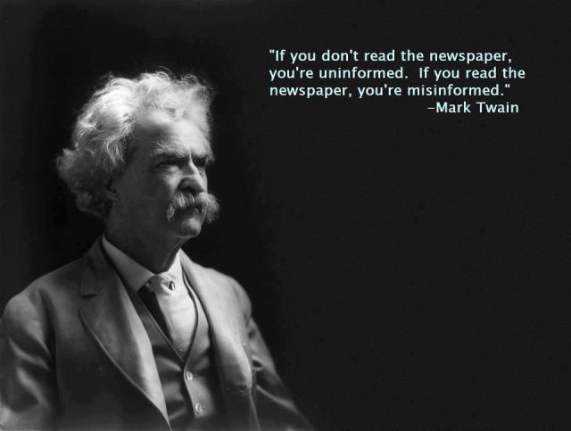 Twain uninformed