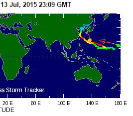 Japan Typhoons 7-13-15
