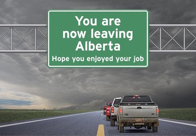 leaving Alberta