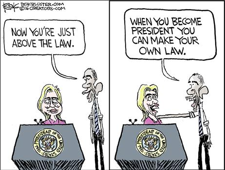 Hillary above make law