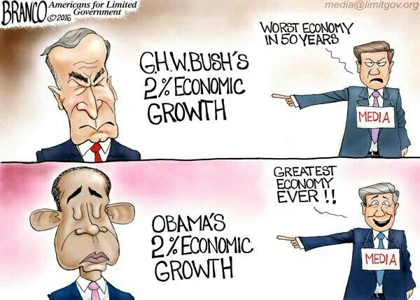 Obama vs Bush economy 2pc