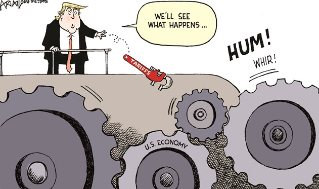 Tariffs see what happens